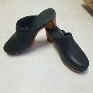 UGG Australia Leather Abbie Clogs